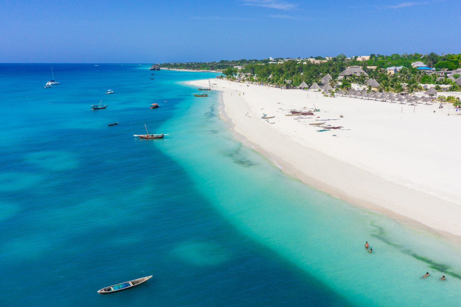 Kendwa beach area at the Northern party of Zanzibar